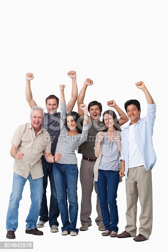 istock Cheering group of people 824642576