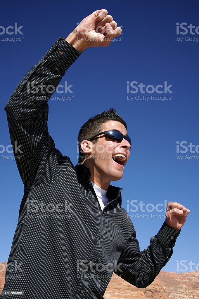 Cheering royalty-free stock photo