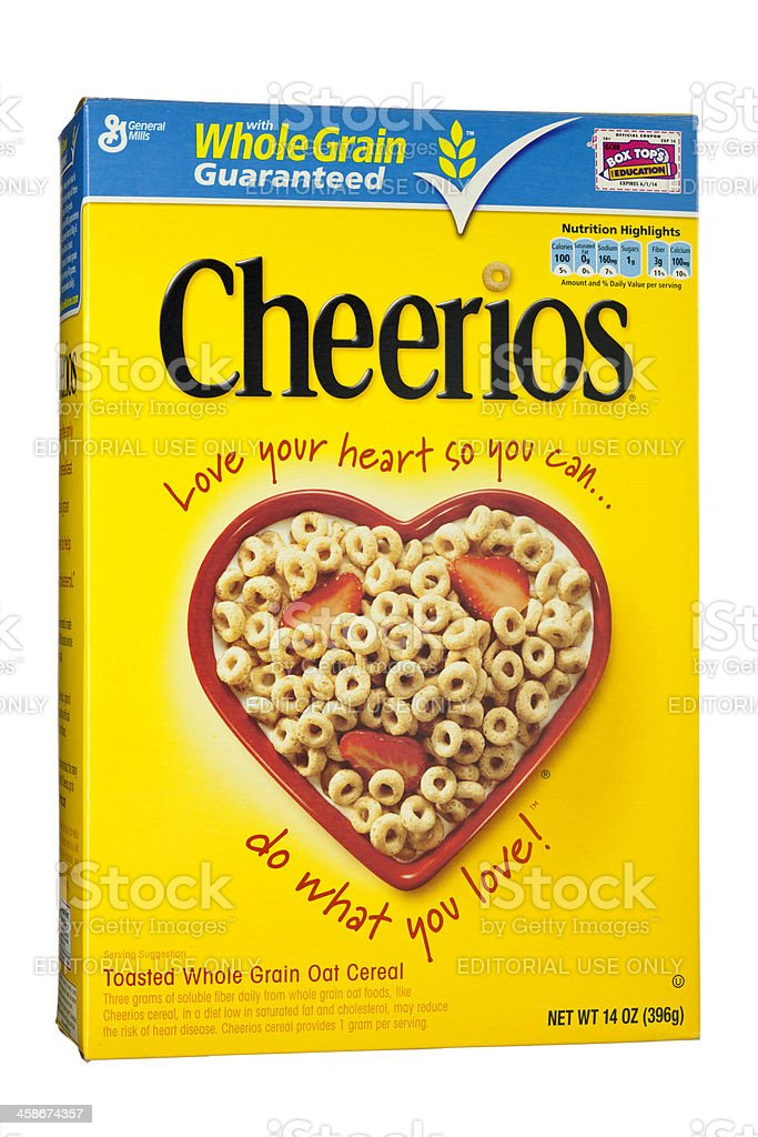 Cheerios Whole Grain Breakfast Cereal by General Mills royalty-free stock photo