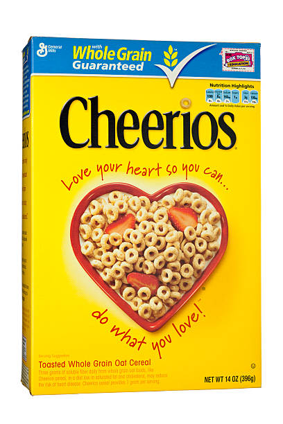 Cheerios Whole Grain Breakfast Cereal by General Mills stock photo