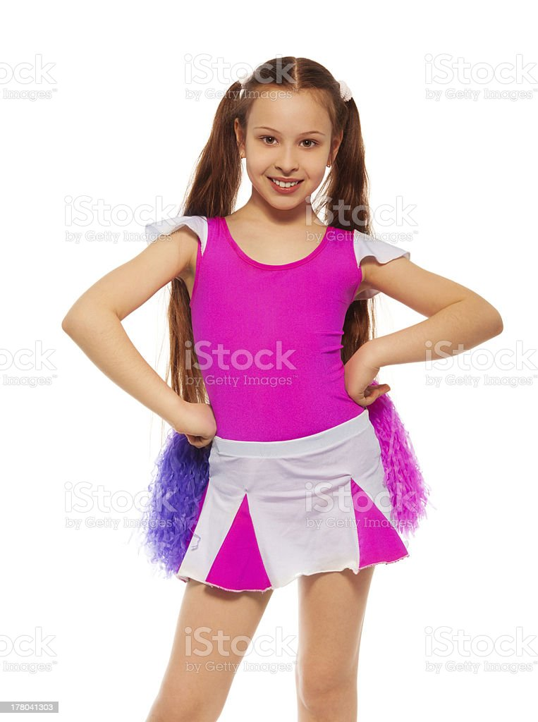 Cheerleader girl royalty-free stock photo