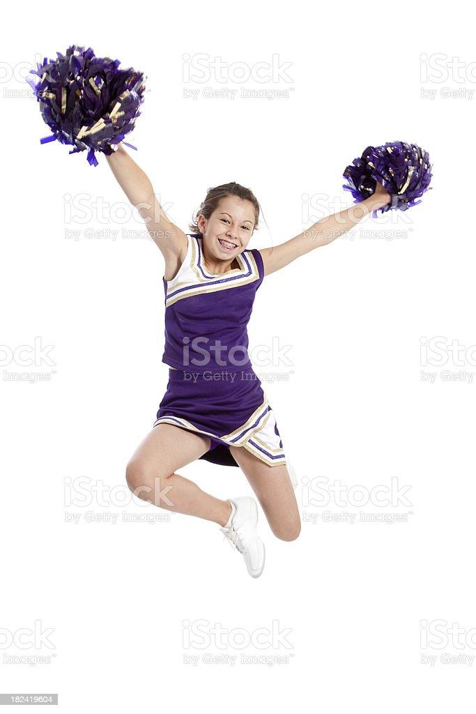 Cheerleader Jumping royalty-free stock photo
