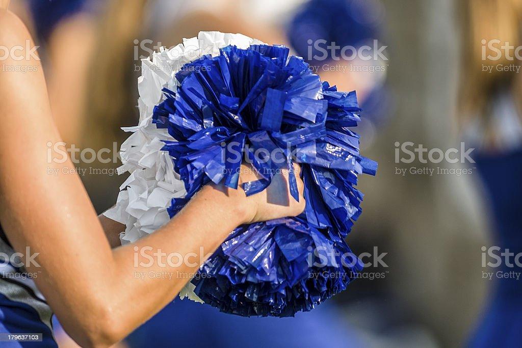 Cheerleader pom poms stock photo
