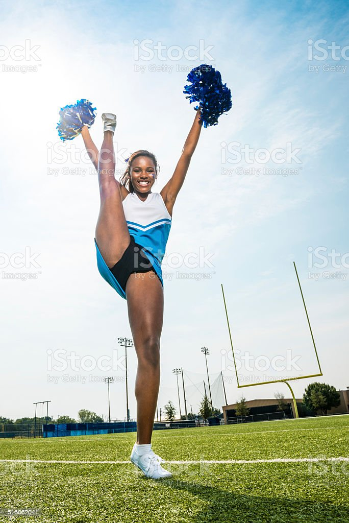 Cheerleader Split Stand stock photo