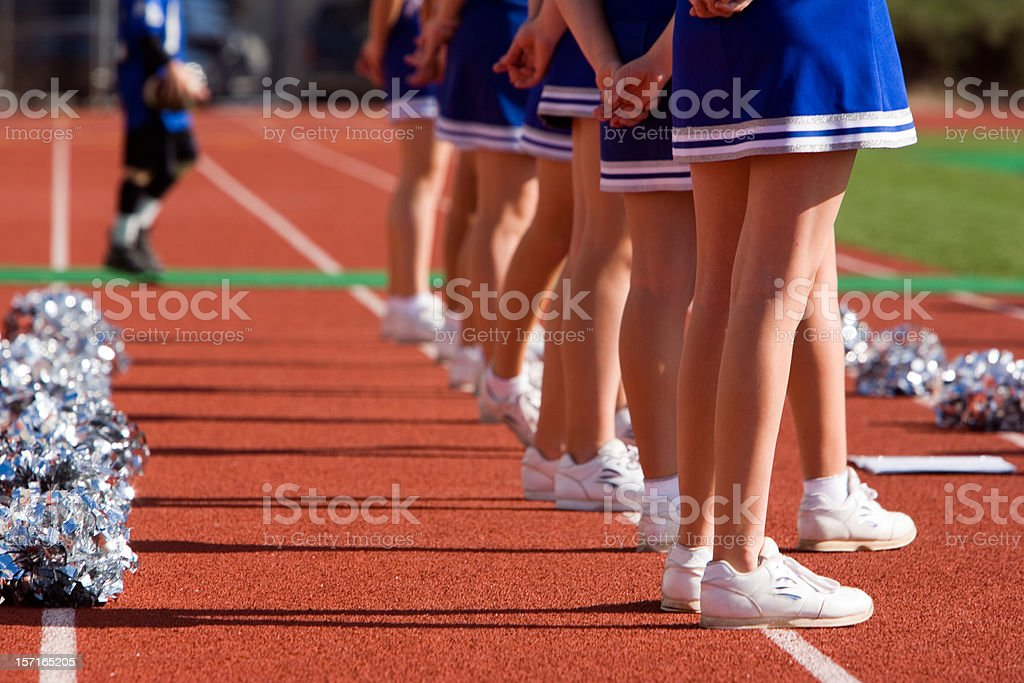 Cheerleaders royalty-free stock photo
