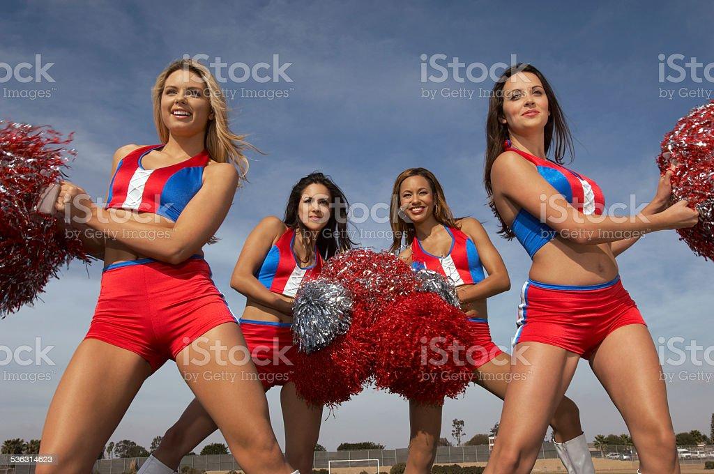 Cheerleaders stock photo
