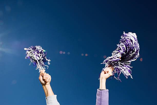 cheerleading - pompon stockfoto's en -beelden
