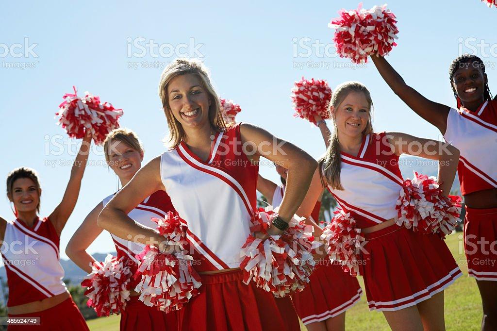 Cheerleading Squad stock photo