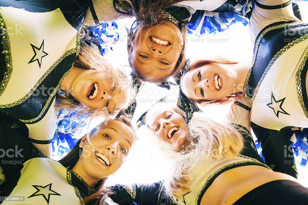 cheerleading team stock photo