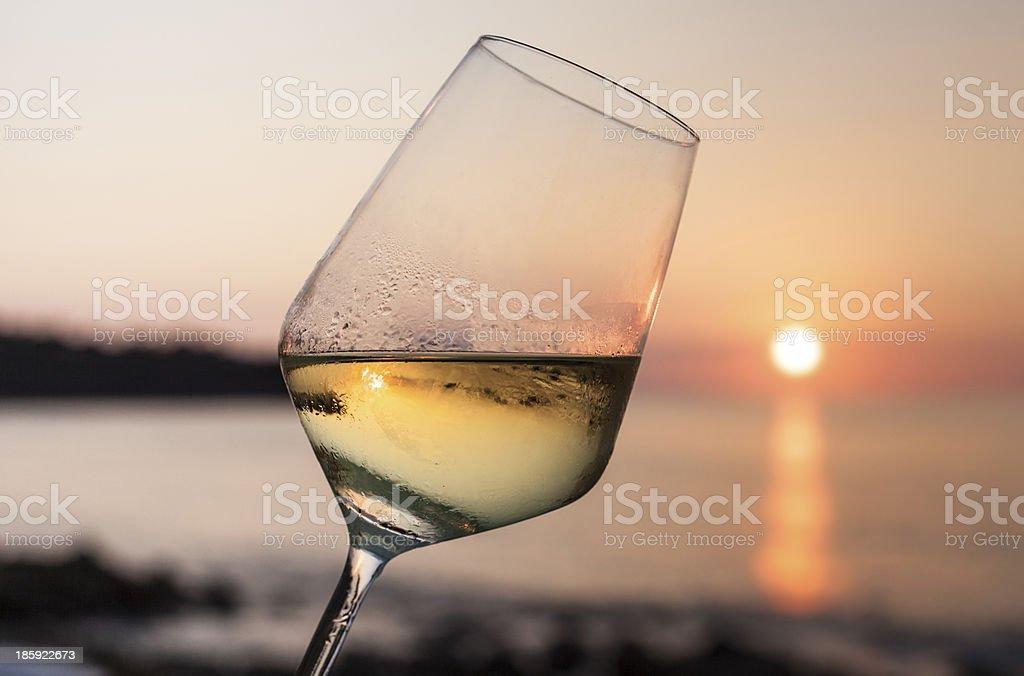 Cheers al crepuscolo - foto stock