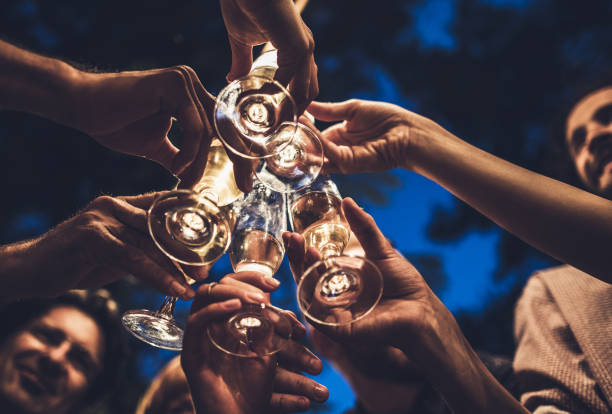 cheers dear friends! - honour stock photos and pictures