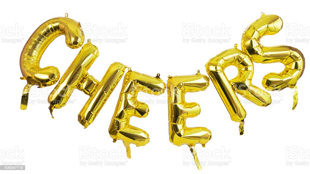 Cheers Foil Balloon Banner stock photo