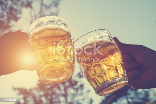 istock Cheers for my friends! 495693922