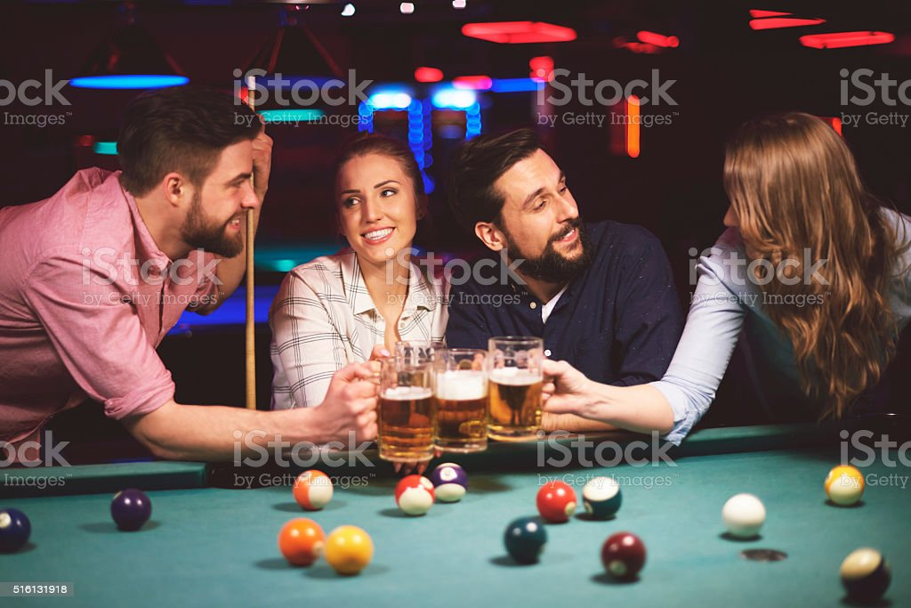 Cheers for the good evening stock photo