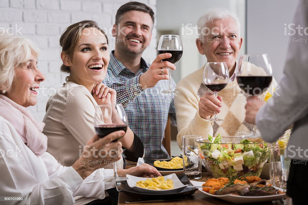 Cheers! For us all! stock photo