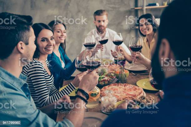 Cheers friends got together by table with delicious food with glasses picture id941299560?b=1&k=6&m=941299560&s=612x612&h=tly2cxy47xnbegtvpvyv2g7gofgqixqjqi7lyopyqgc=