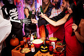 istock Cheers over the halloween party 610130754