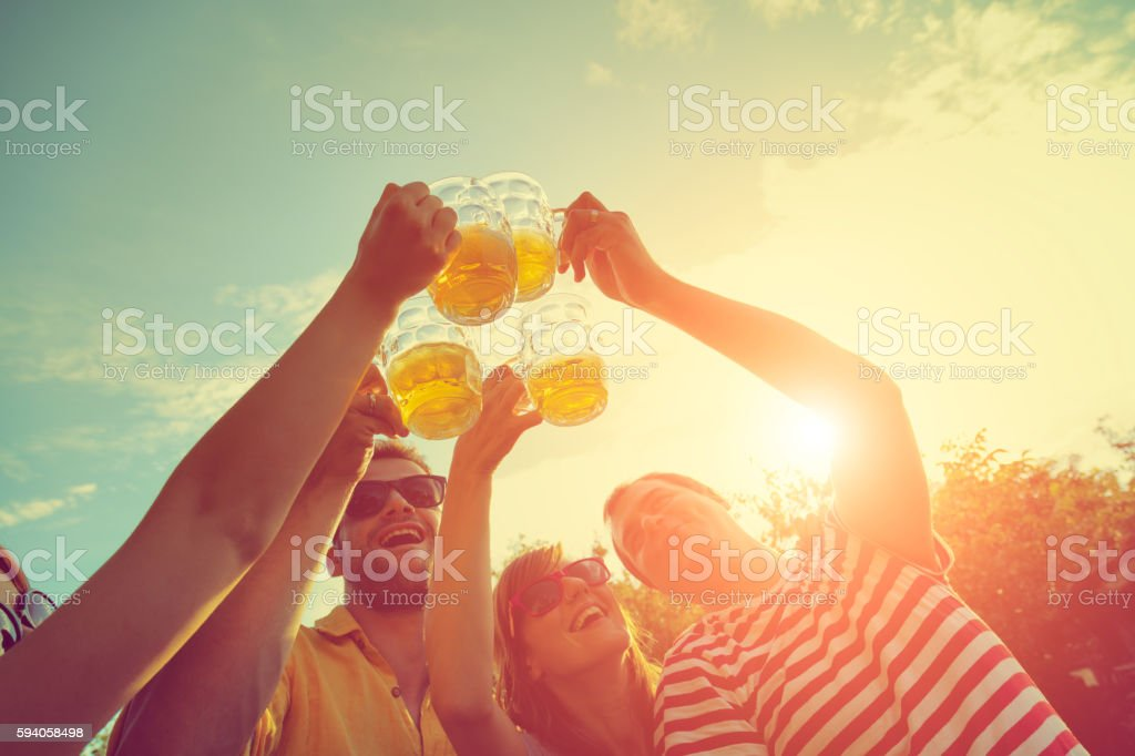 Cheers!! stock photo