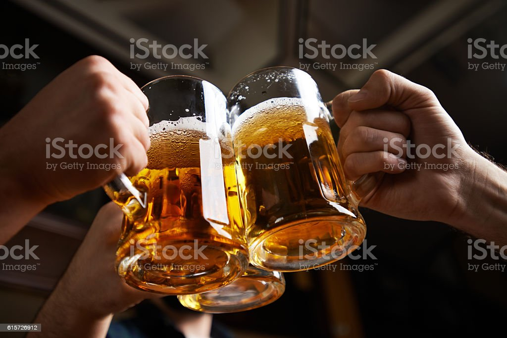 cheers! stock photo