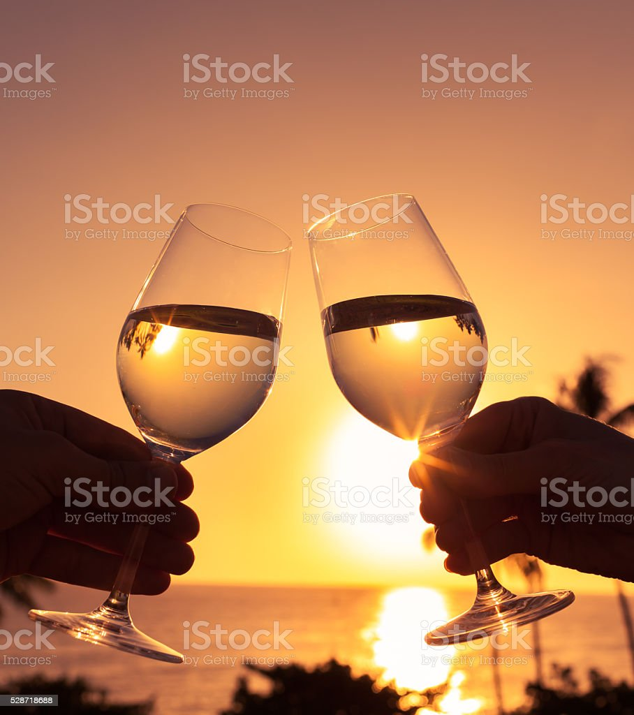 Cheers to a beautiful life. stock photo