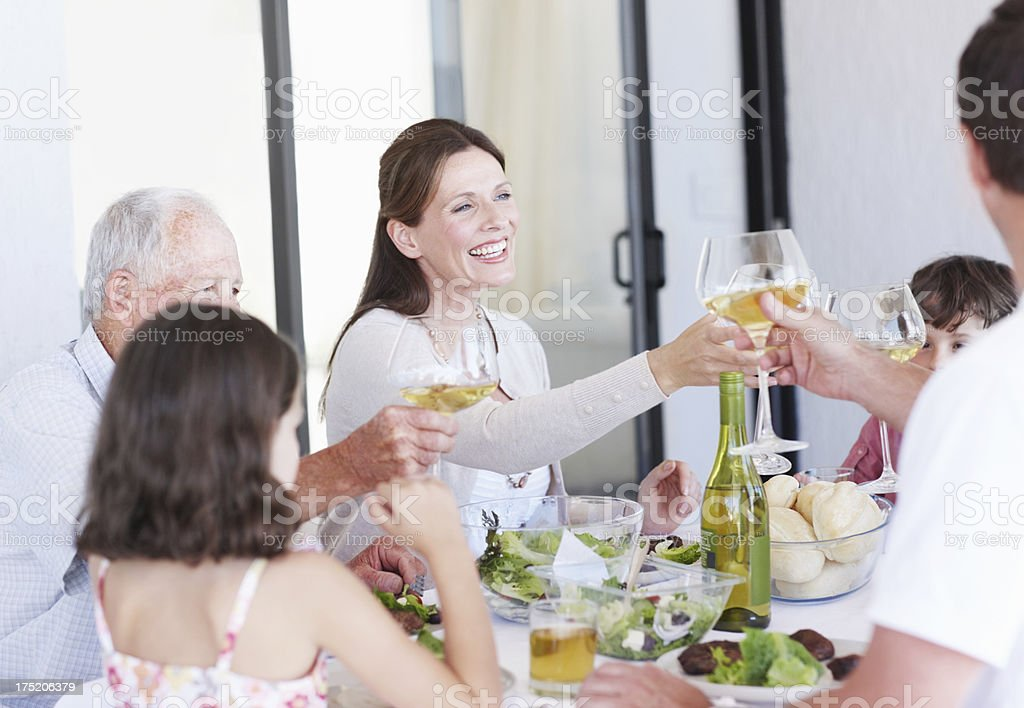 Cheers to all of us royalty-free stock photo
