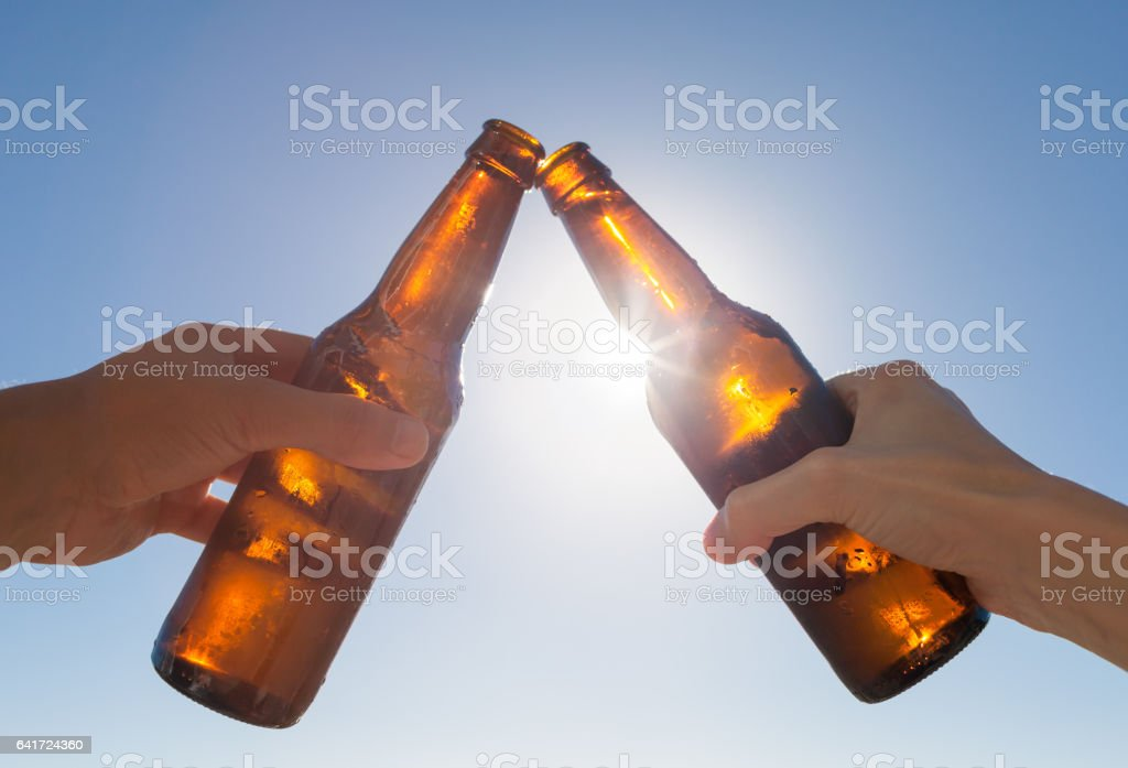 Cheers to beer! stock photo