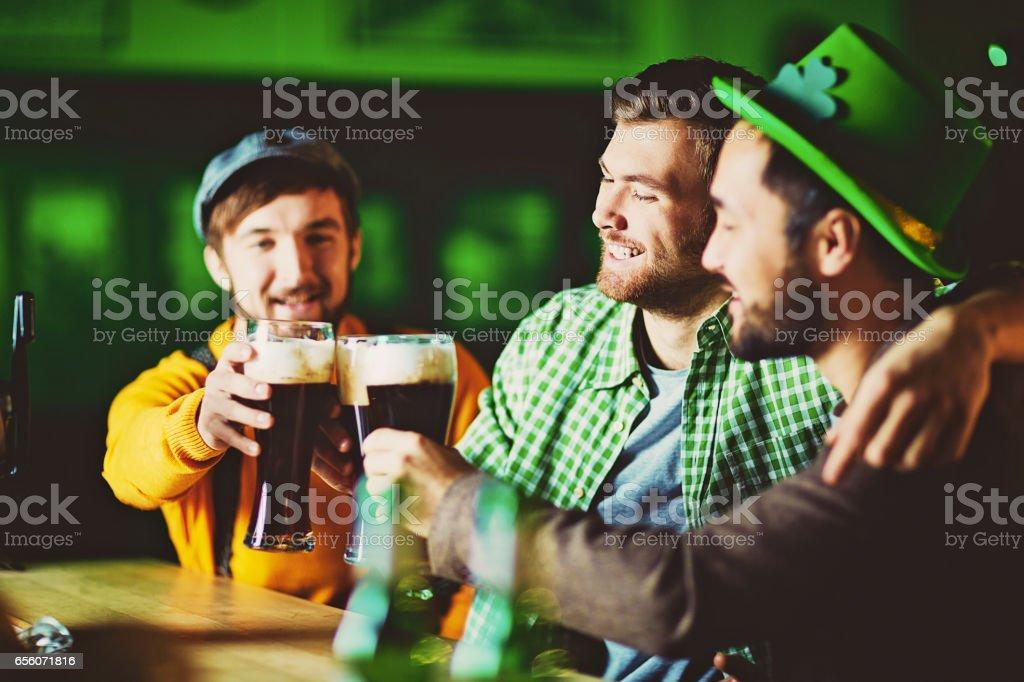 Cheers to Irish Beer! stock photo
