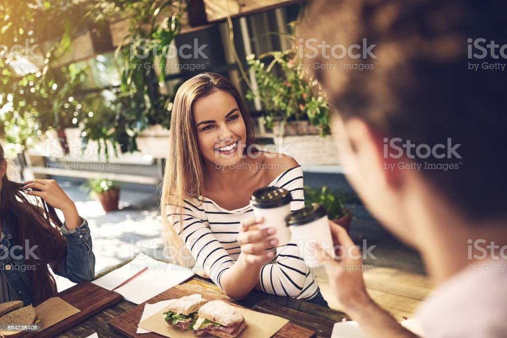 Cheers to more breakfasts like these royalty-free stock photo