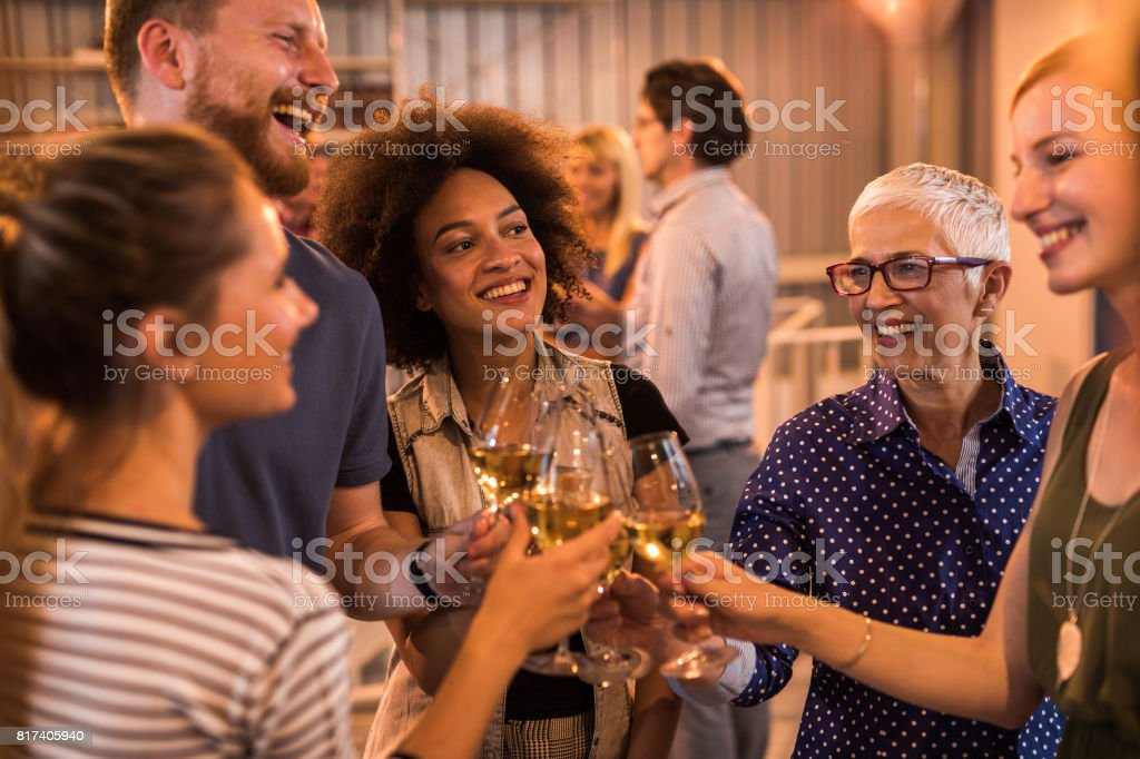 Cheers to new business ideas! stock photo