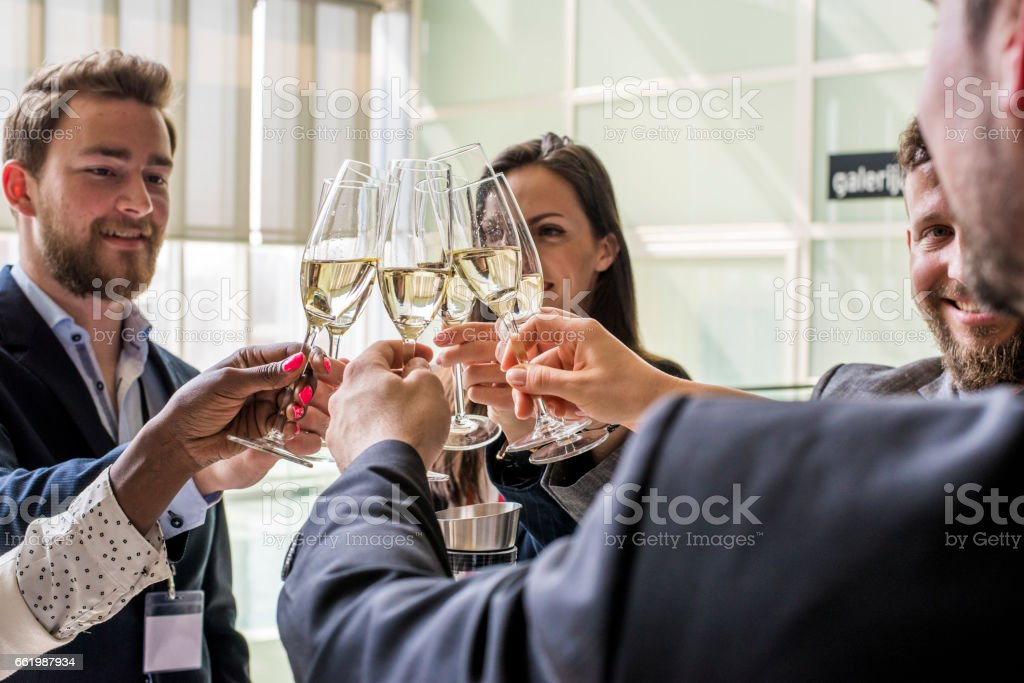 Cheers to success royalty-free stock photo