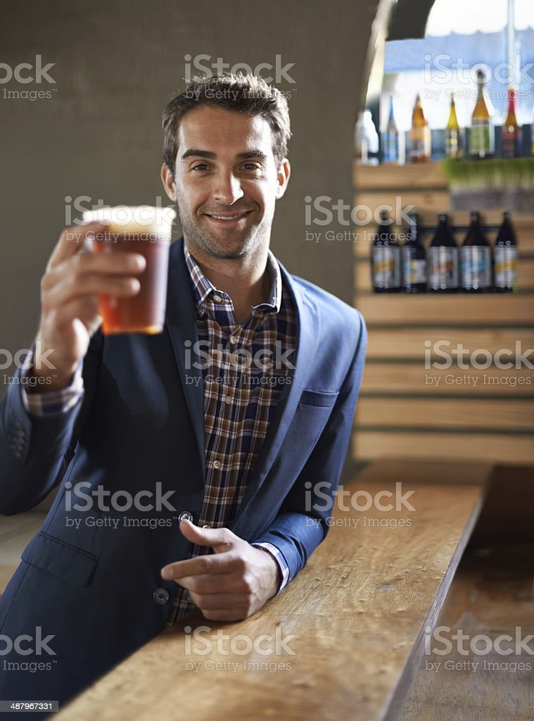 Cheers to you! stock photo