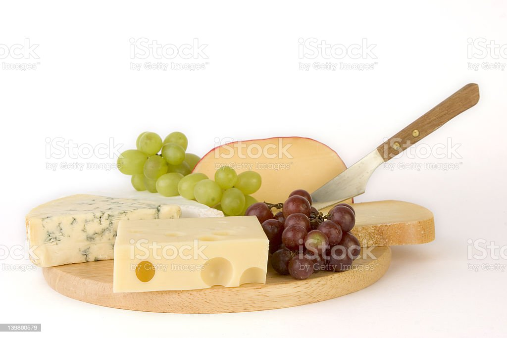 Cheesboard selection royalty-free stock photo