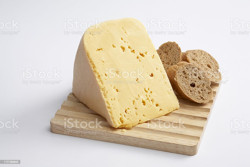 Cheese and bread 1 stock photo