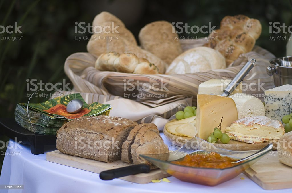 Cheese and bread royalty-free stock photo