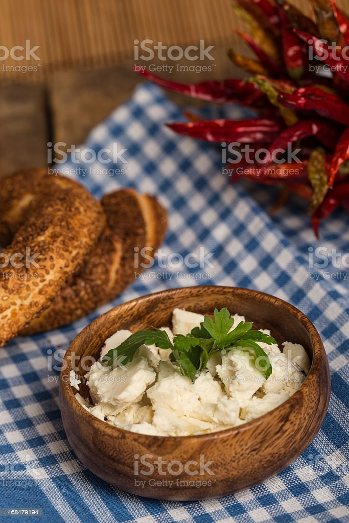 cheese and breads royalty-free stock photo
