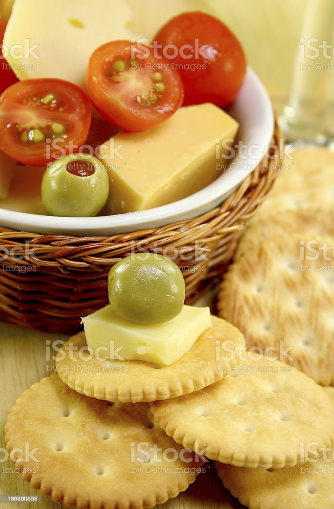 cheese and crackers - Royalty-free Appetizer Stock Photo