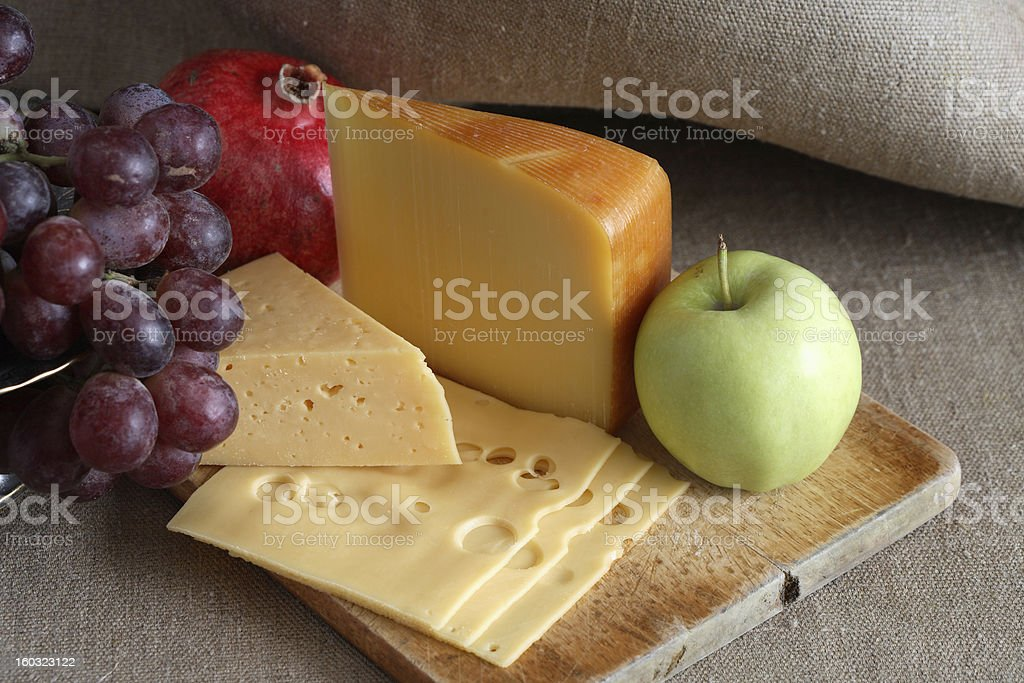 Cheese And Fruits royalty-free stock photo