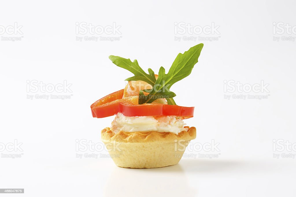 cheese and ham tartlet royalty-free stock photo