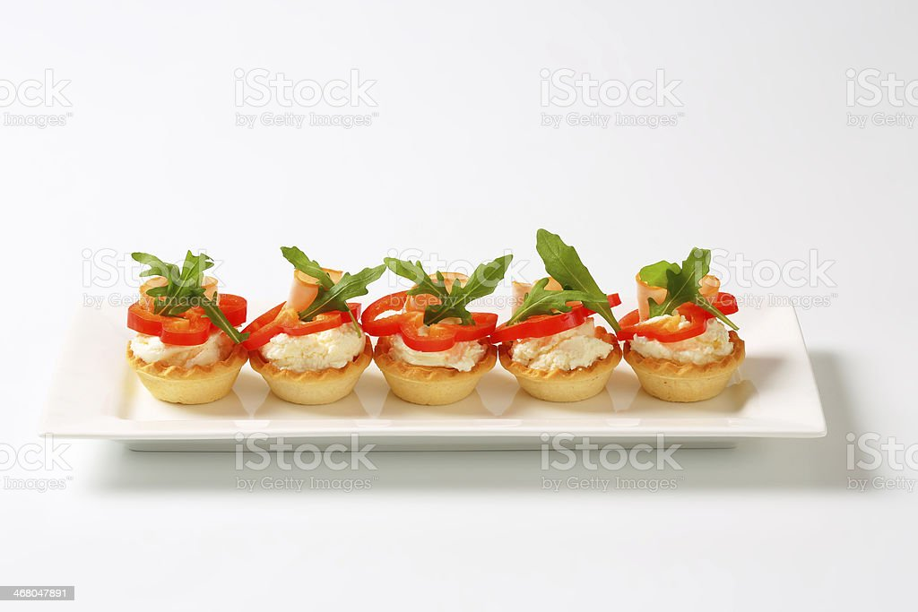 cheese and ham tartlets royalty-free stock photo