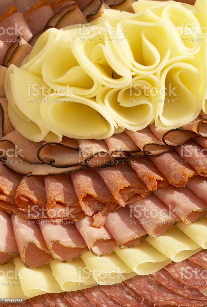 Cheese and Meat variety royalty-free stock photo