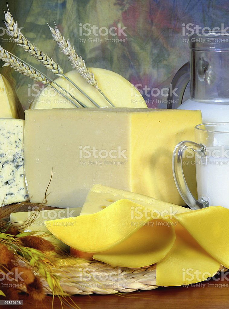 cheese and milk royalty-free stock photo
