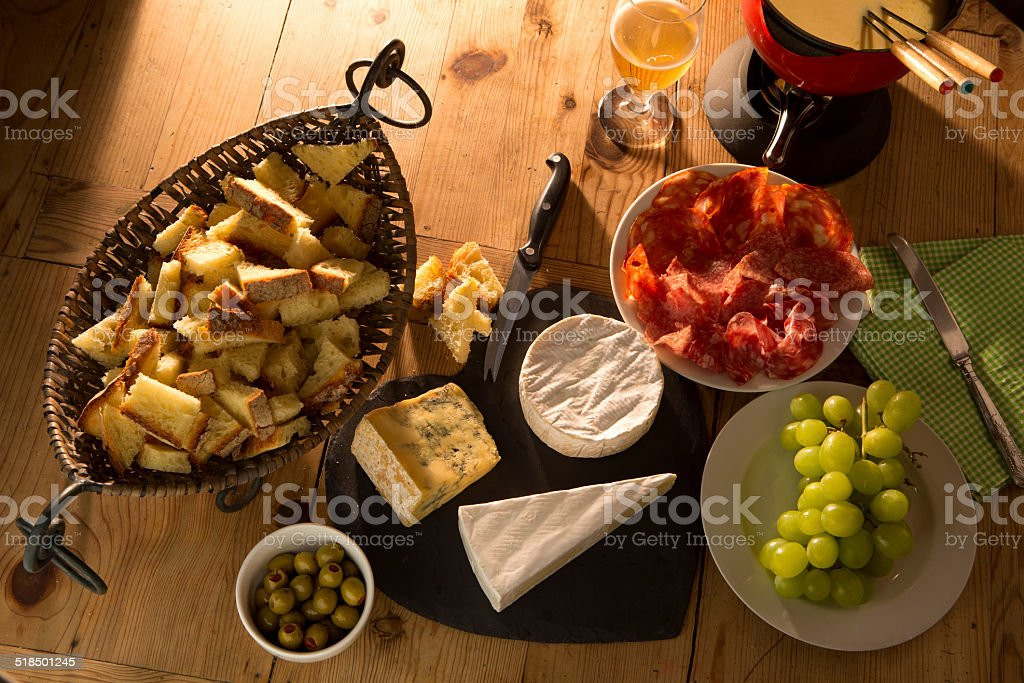 Cheese and Nibbles stock photo