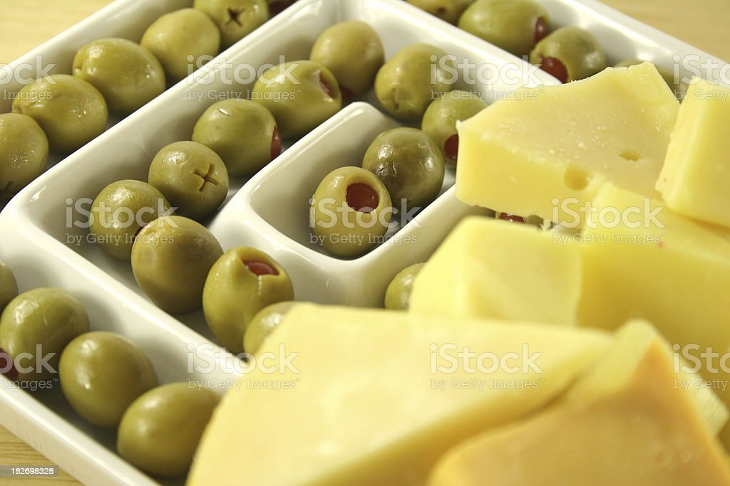 cheese and olives - Royalty-free Antipasto Stock Photo