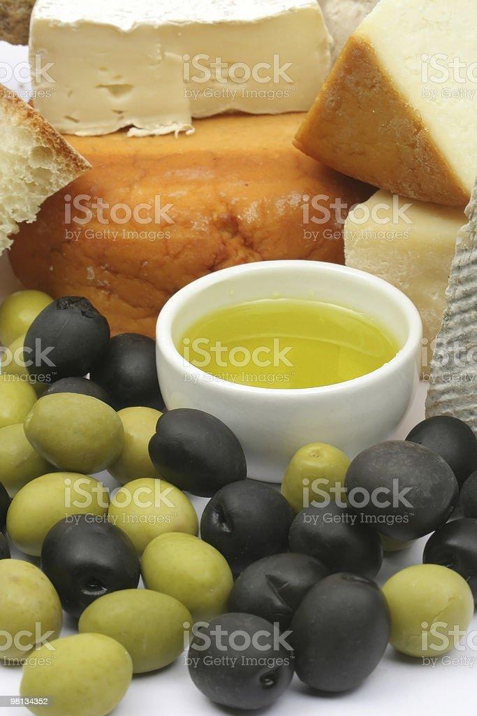 치즈, 올리브 royalty-free 스톡 사진
