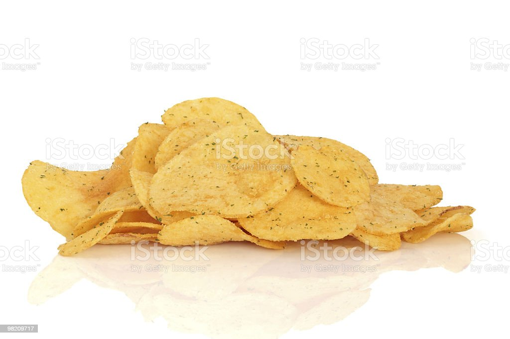 Cheese and Onion Crisps royalty-free stock photo