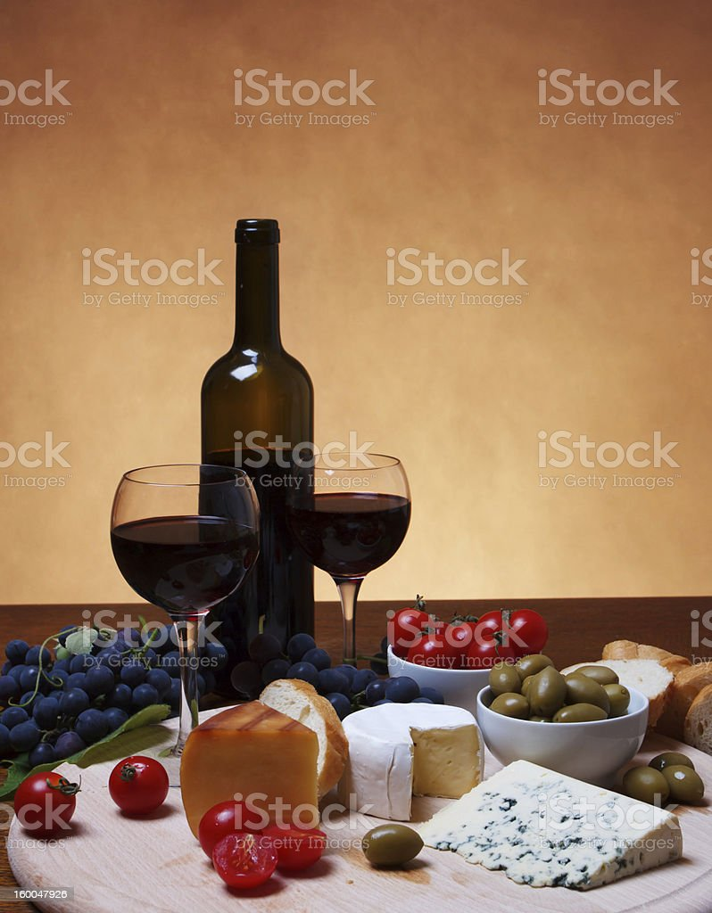 Cheese and Red Wine royalty-free stock photo