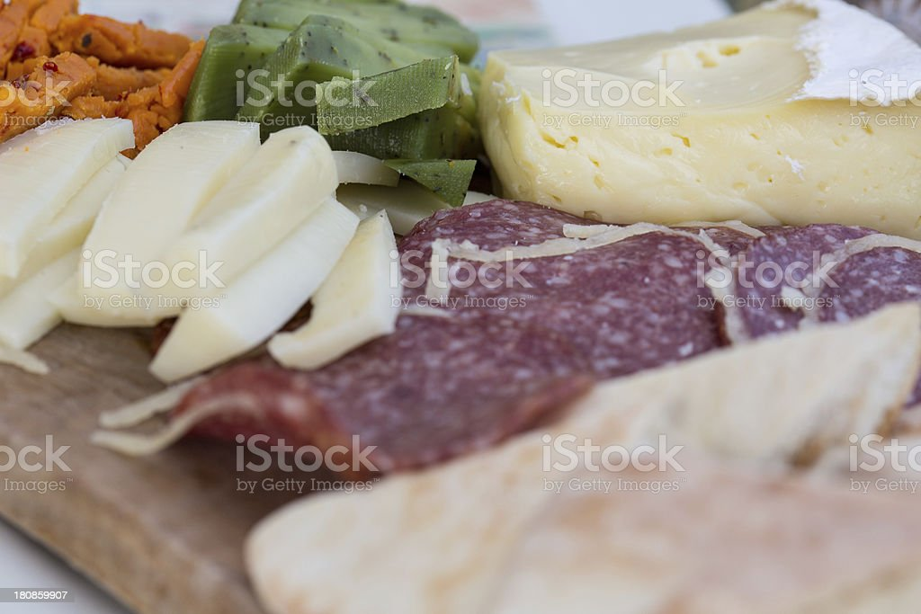 Cheese And Salame royalty-free stock photo
