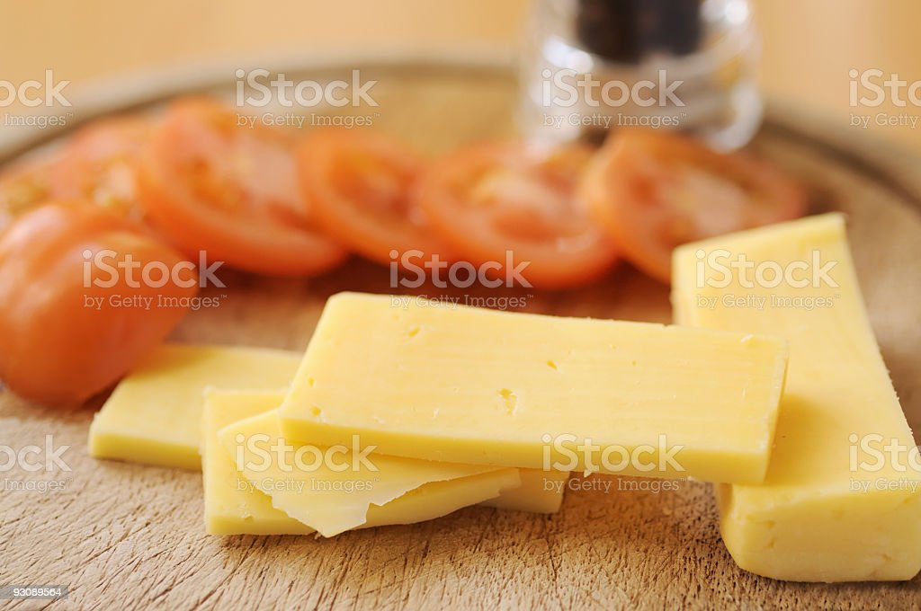 Cheese and Tomato (XL) royalty-free stock photo