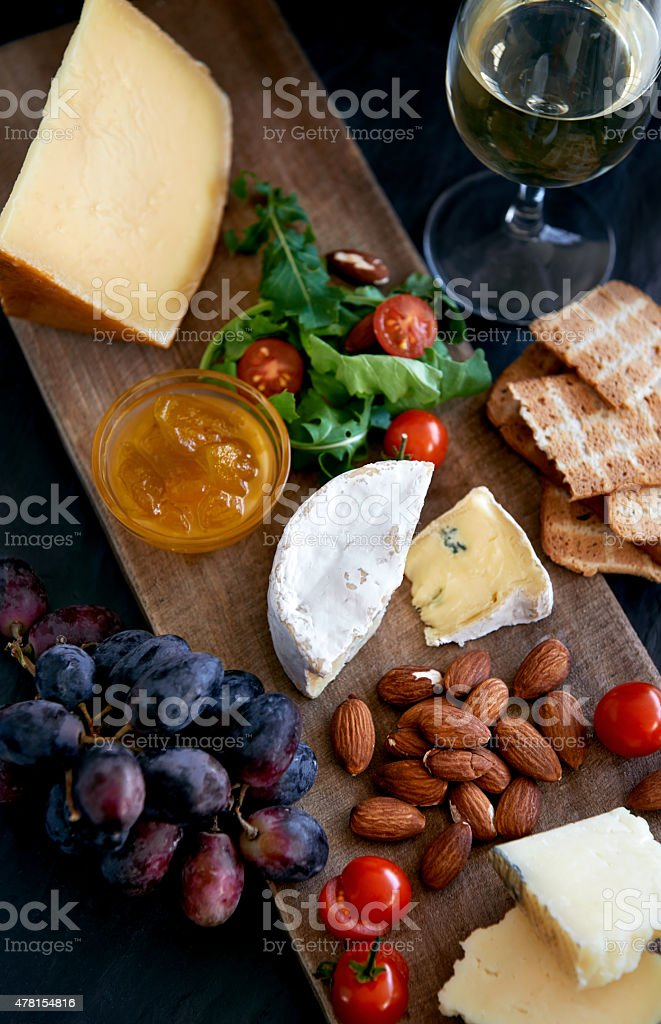 Cheese and wine evening foto