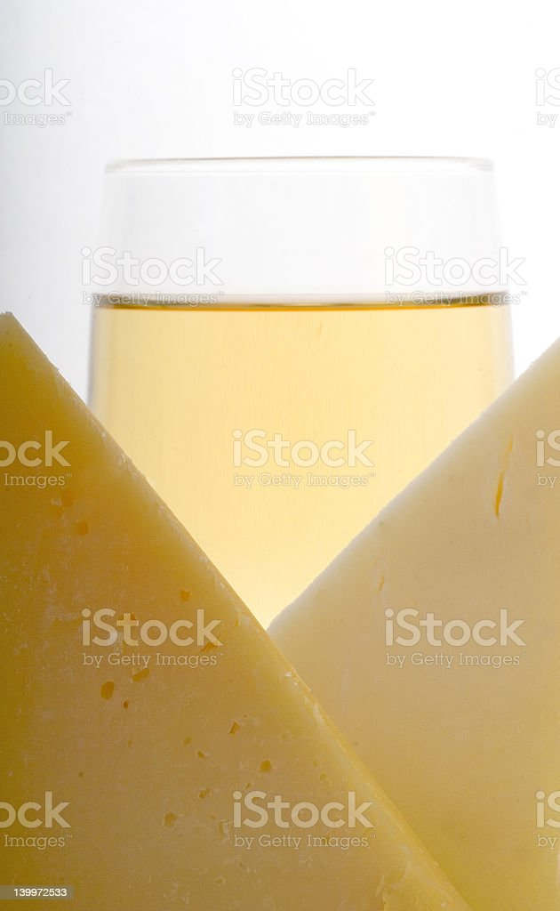 cheese and wine royalty-free stock photo